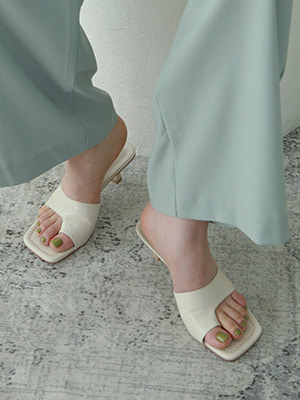 filp flop low heel mules(2colours!)