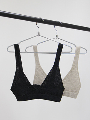 bralette whole garment knit