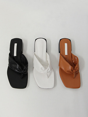 faux leather flip flops(3colours!)