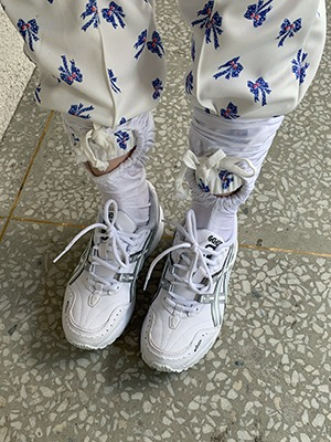 (freckle made♥)blue bow jersey jogger