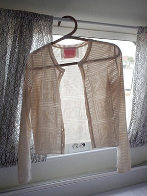 (freckle made♥)vintage button crochet cardigan