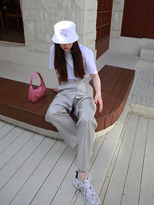 (freckle made♥)shimmer high waist pants in silver