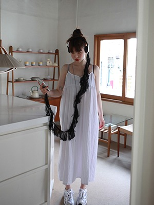 white slip long dress