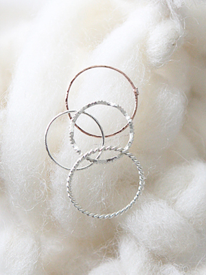 (silver 925)layered thin rings(4type)