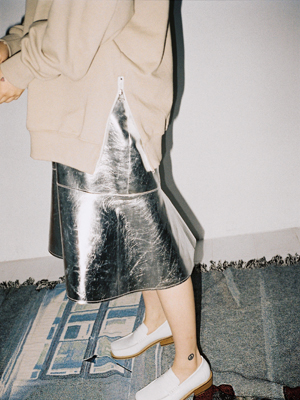 metallic mermaid skirt