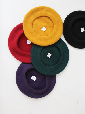 colour wool beret