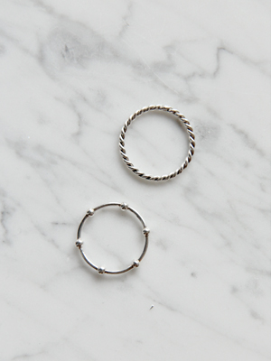 (silver 925)thin ring(rope,ball!)