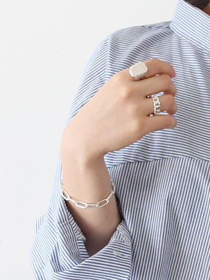 (silver 925)bold chain ring