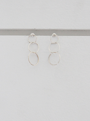 (silver 925)interlocking circles drop earrings
